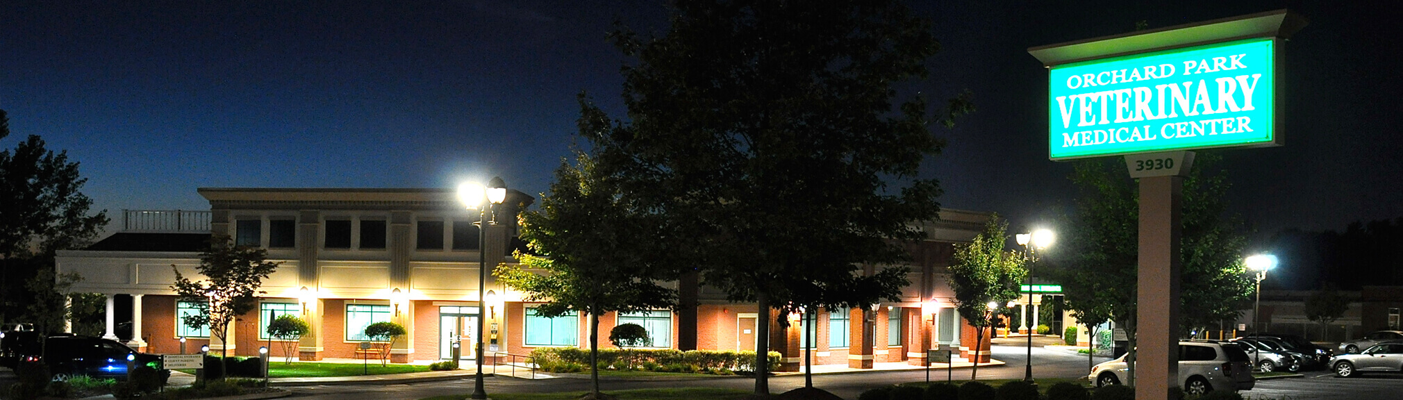 Orchard Park Veterinary Medical Center Nighttime