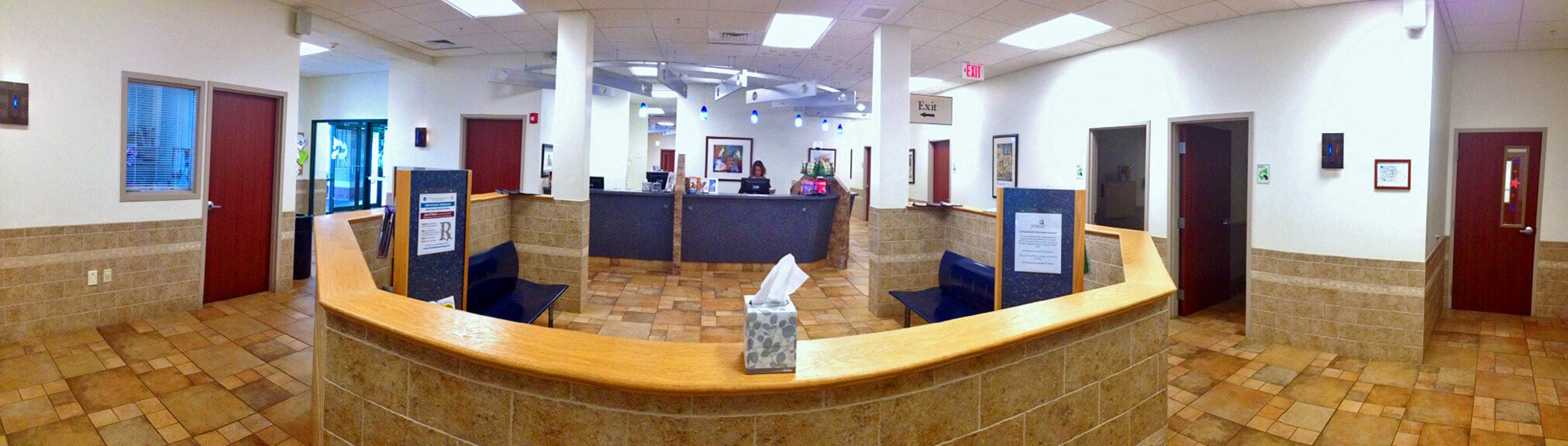 Orchard Park Veterinary Medical Center Reception Area