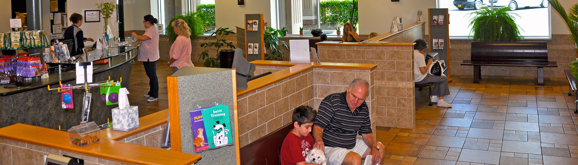 Orchard Park Veterinary Medical Center Waiting Area